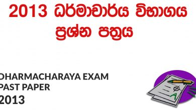 Dharmacharya Exam Past Papers 2013