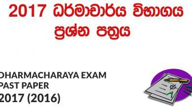 Dharmacharya Exam Past Papers 2017 (2016)