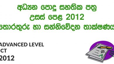 Advanced Level ICT 2012 Paper
