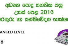 Advanced Level ICT 2016 Paper