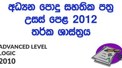 Advanced Level Logic 2012 Paper