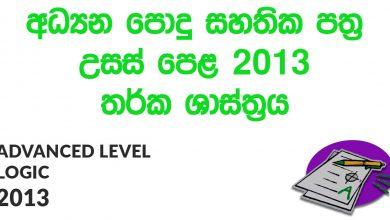 Advanced Level Logic 2013 Paper