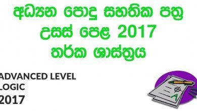Advanced Level Logic 2017 Paper