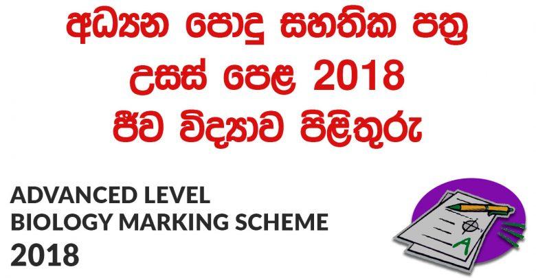 Advanced Level Biology 2018 Marking Scheme