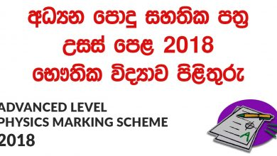 Advanced Level Physics 2018 Marking Scheme