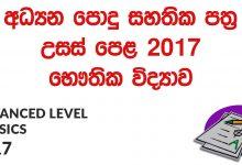 Advanced Level Physics 2017 Past Paper